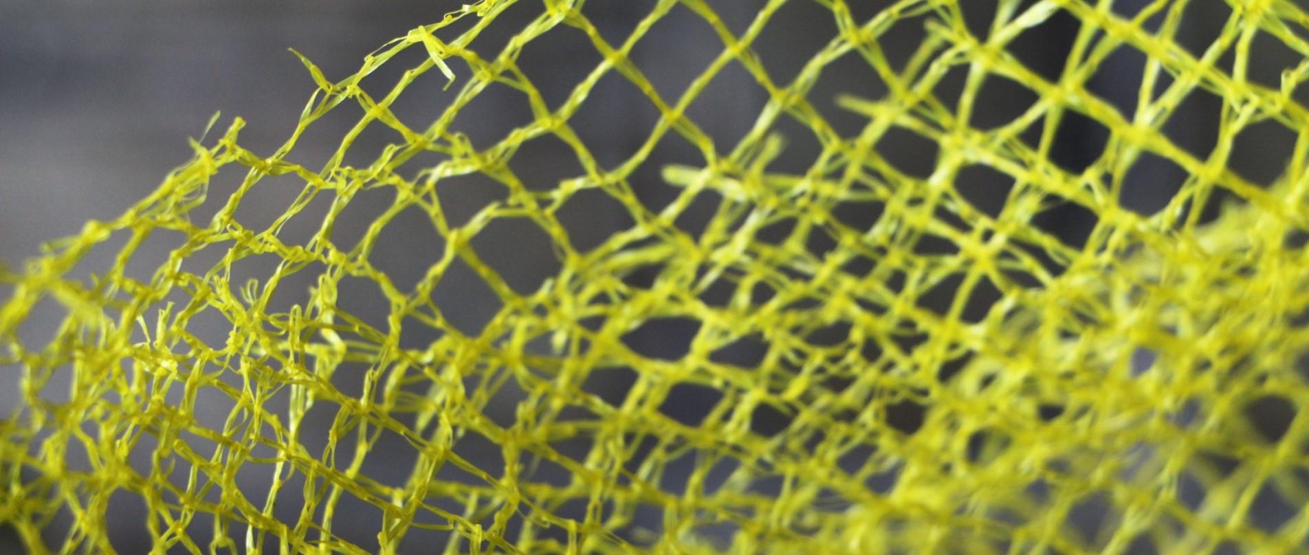 Nahaufnahme eines gelben Netzes
